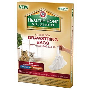Arm & Hammer Healthy Home Solutions Drawstring Bags with Baking Soda