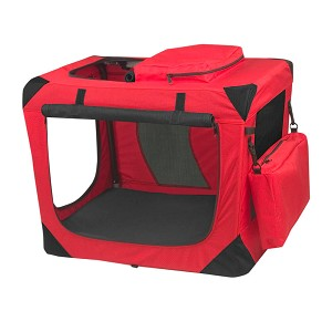"Generation II Deluxe Portable Soft Crate 26.5"", Red"