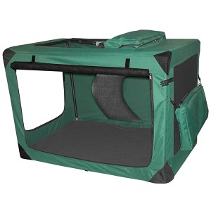"Generation II Deluxe Portable Soft Crate 42"", Green"