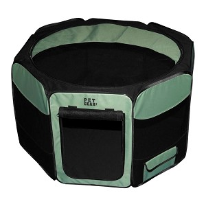 Octagon Pet Pen With Removable Top, Sage, Medium