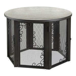 Richell Accent Table Pet Crate, Medium