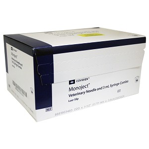 Monoject Syringes with Needles, 3 cc LS with 22g x 1.5""