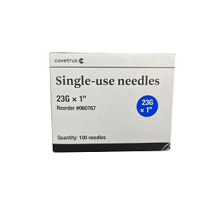 Rx Monoject Needle, Polypropylene Hub, 23 g x 1""