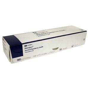 Monoject Needle, Polypropylene Hub, 25 g x 1""
