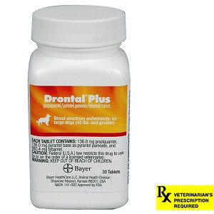 Drontal Plus Rx, 136 mg x 30 Tablet