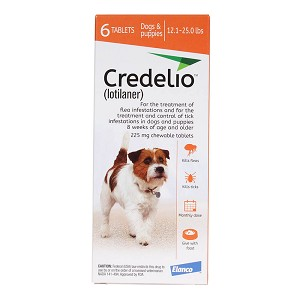Rx Credelio 12.1-25 lbs, 6 month, Orange