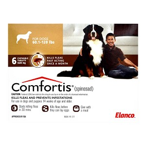 Comfortis, Dogs 60.1-120 lbs, 6 Chewable Tablets, Rx