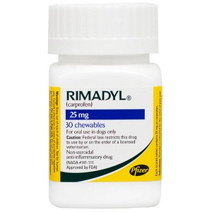 Rimadyl Rx, Chewables, 25 mg x 30 ct