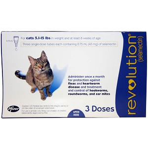 Revolution Rx for Cats, Blue, 5.1-15 lbs, 3 month