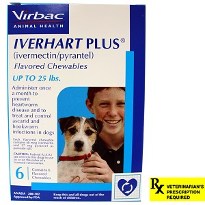 Iverhart Plus Rx, Up to 25 lbs, 6 Month