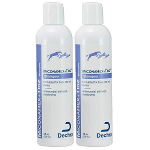 MiconaHex+ Triz Shampoo for Dogs, Cats and Horses, 8 fl oz, 2pk
