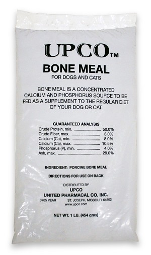 Bone Meal, Steamed, For Dogs and Cats, 1 lb Bag