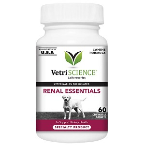Renal Essentials, Kidney Health Support for Dogs, 60 Chewable Tablets