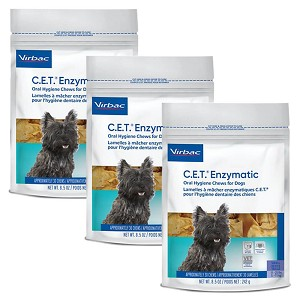 C.E.T. Enzymatic Oral Chews, for Dogs, Small, Approx 30 Chews, 3 pk