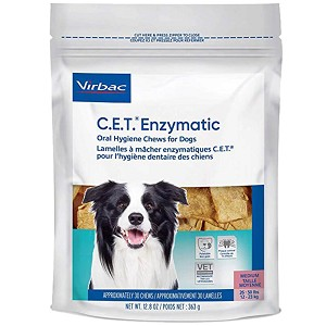 C.E.T. Enzymatic Oral Hygiene Chews for Dogs, 30 Large Chews