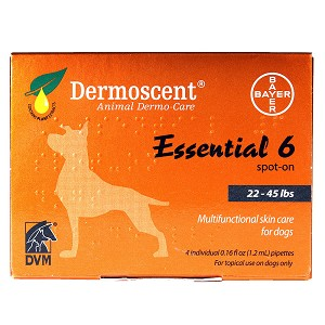 Dermoscent Essential 6 Spot on for Dogs, 22-45 lbs