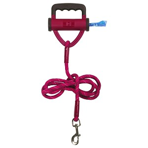 Power Leash Pink with Waste Bag Dispenser, 6 foot