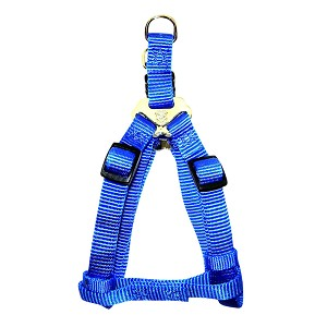 "Nylon Harness, Adjustable Easy-On, Blue, Large, 1"" x 30-40"""