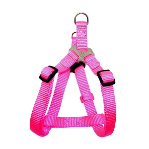 "Nylon Harness – Adjustable Easy-On, Hot Pink, Small, 5/8"" x 12-20"""