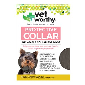 Vet Worthy, Protective Collar, Inflatable Collar for Dogs, Small