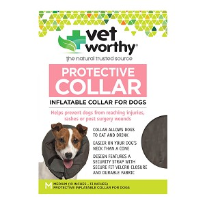 Vet Worthy, Protective Collar, Inflatable Collar for Dogs, Medium