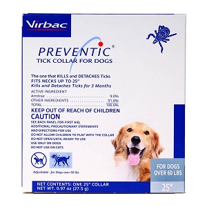 Preventic Tick Collar for Dogs, 25""