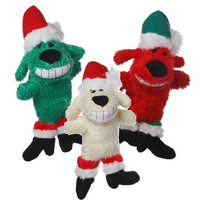 "Multipet Loofa Santa, Dog Toy, 6"", Assorted Colors"