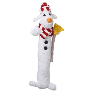 Multipet Loofa Snowman, Dog Toy, 12""