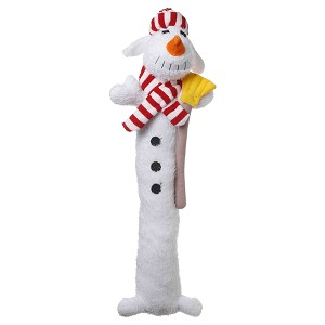 Multipet Loofa Snowman, Dog Toy, 18""