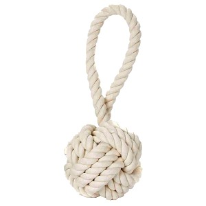 Multipet Nuts for Knots with Tug Dog Toy, Small 3.5""
