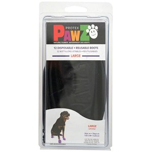 PAWZ Dog Boots, Large (Black)