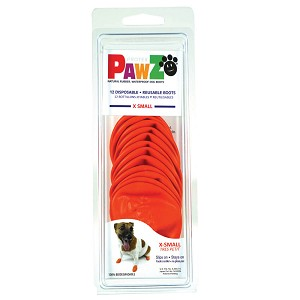 PAWZ Dog Boots, X-Small (Orange)