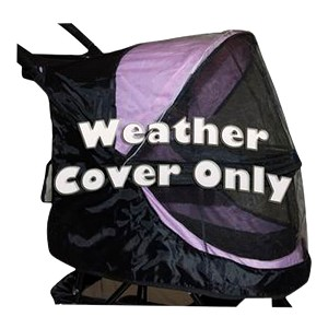 Happy Trails Weather Cover for No-Zip Stroller, Pink