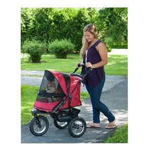Jogger No-Zip Pet Stroller, Rugged Red