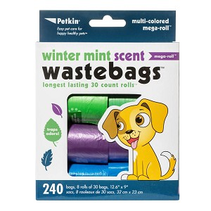 Winter Mint Waste Bags, 240 Count