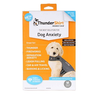 Thunder Shirt, Dog Anxiety, Solid Gray, Medium