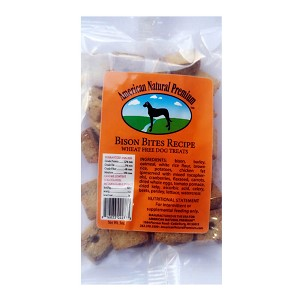 Bison Bites Recipe, Wheat Free Dog Treats, 3 oz