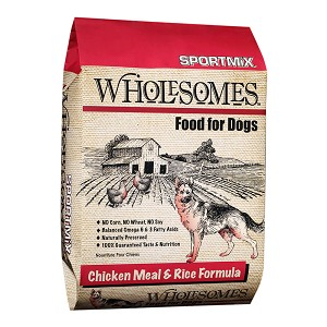 SPORTMiX Wholesomes Chicken Meal and Rice Formula, 40 lbs