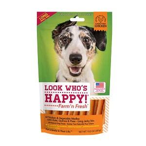 Look Who's Happy Farm'n Fresh Chicken with Peas, Quinoa & Kale Long Jerky Stix, 10 oz