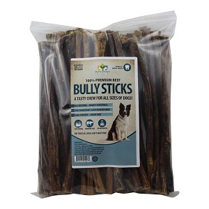 "12"" Dog Bully Sticks, Premium All Natural Dog Chew Pizzles, 50 Pack"