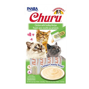 Inaba Churu, Creamy Chicken & Scallop Cat Treat