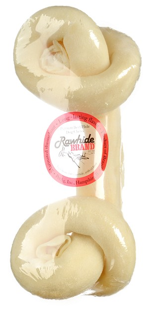Rawhide Brand Natural Round Safety Knot Bone