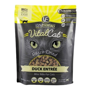 Vital Cat Freeze-Dried Duck Mini Nibs Entre, 12 oz