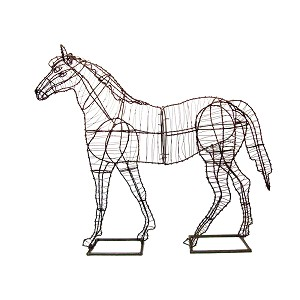 "Wire Art, Horse 72"" - Frame"