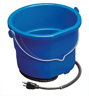API Heated Flat-Back Bucket, 2.5 Gallon
