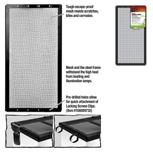 Screen Cover Metal Blk 20X10