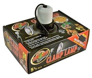 Clamp Lamp Dlx Porcln Blk 5 5 Quot