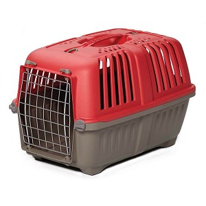 "Midwest Spree Plastic Pet Carrier Red 18.875"" x 1"