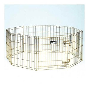 "Midwest Gold Zinc Pet Exercise Pen 8 panels Gold 24"" x 36"""