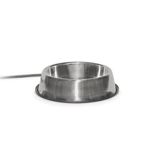 "K&H Pet Products Pet Thermal Bowl Stainless Steel 13"" x 13"" x 3.5"""